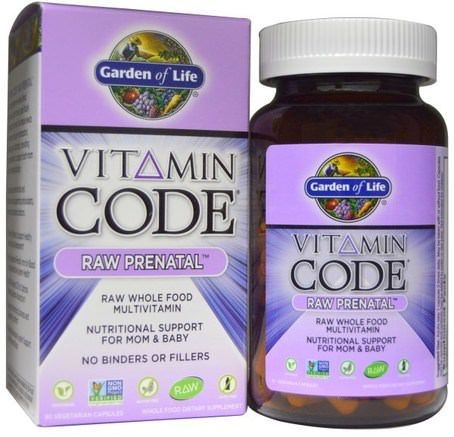 Vitamin Code, Raw Prenatal, 90 Vegetarian Capsules by Garden of Life-Vitaminer, Prenatala Multivitaminer