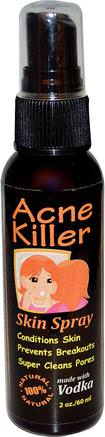 Acne Killer, Skin Spray, 2 oz (60 ml) by Greensations-Skönhet, Akne Aktuella Produkter