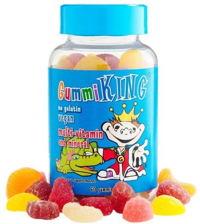 Multi-Vitamin & Mineral, For Kids, 60 Gummies by Gummi King-Vitaminer, Multivitaminer, Multivitamingummier, Barnhälsa, Barngummier