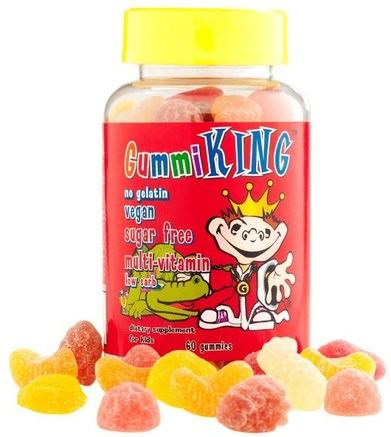 Sugar-Free Multi-Vitamin, For Kids, 60 Gummies by Gummi King-Vitaminer, Multivitaminer, Multivitamingummier, Barnhälsa, Barngummier