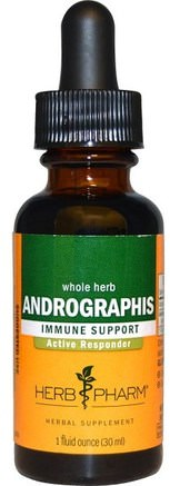 Andrographis, Whole Herb, 1 fl oz (30 ml) by Herb Pharm-Kosttillskott, Antibiotika, Andrografier