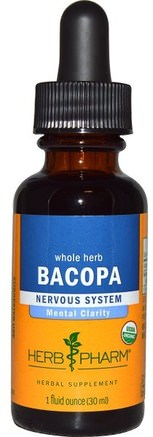 Bacopa, Whole Herb, 1 fl oz (30 ml) by Herb Pharm-Örter, Bacopa (Brahmi)