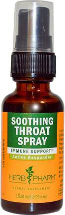 Soothing Throat Spray, 1 fl oz (29.6 ml) by Herb Pharm-Kosttillskott, Antibiotika, Echinacea, Hälsa, Halsvårdspray