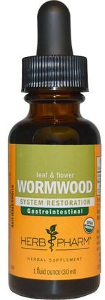 Wormwood, Leaf & Flower, 1 fl oz (30 ml) by Herb Pharm-Örter, Artemisia Malurt