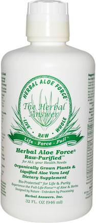 Inc, Herbal Aloe Force, 32 fl oz (946 ml) by Herbal Answers-Kosttillskott, Aloe Vera, Aloe Vera Flytande