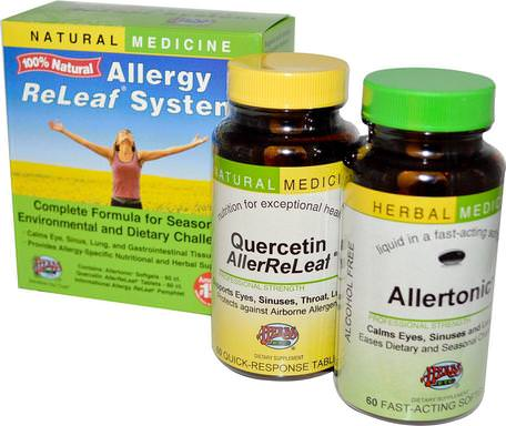 Allergy ReLeaf System, 2 Bottles, 60 Sofgels/Tablets by Herbs Etc.-Hälsa, Allergier, Allergi