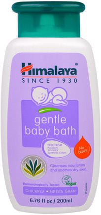 Gentle Baby Bath, Chickpea and Green Gram, 6.76 fl oz (200 ml) by Himalaya Herbal Healthcare-Bad, Skönhet, Barnbad