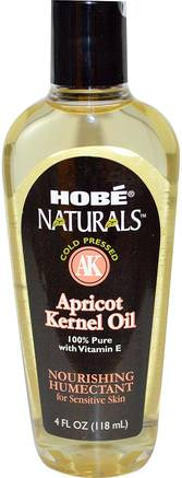 Naturals, Apricot Kernel Oil, 4 fl oz (118 ml) by Hobe Labs-Hälsa, Hud, Massageolja, Aprikoskärnolja