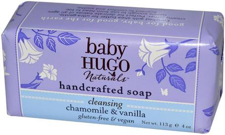 Baby, Handcrafted Soap Bar, Chamomile & Vanilla, 4 oz (113 g) by Hugo Naturals-Barns Hälsa, Barnbad, Tvål