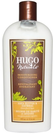 Moisturizing Conditioner, Shea Butter & Oatmeal, 12 fl oz (355 ml) by Hugo Naturals-Bad, Skönhet, Argan Balsam