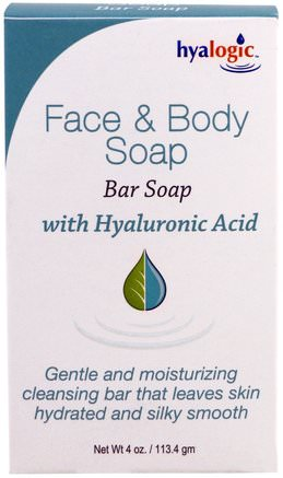 With Hyaluronic Acid, 4 oz (113.4 g) by Hyalogic Face & Body Soap-Hälsa, Kvinnor, Hud, Skönhet, Akne Aktuella Produkter