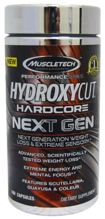 Hardcore Next Gen, Weight Loss, 180 Capsules by Hydroxycut-Hälsa, Energi, Viktminskning, Kost