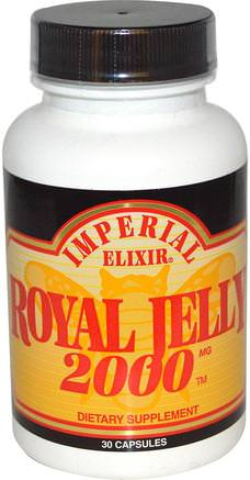 Royal Jelly, 2000 mg, 30 Capsules by Imperial Elixir-Kosttillskott, Biprodukter, Royal Gelé