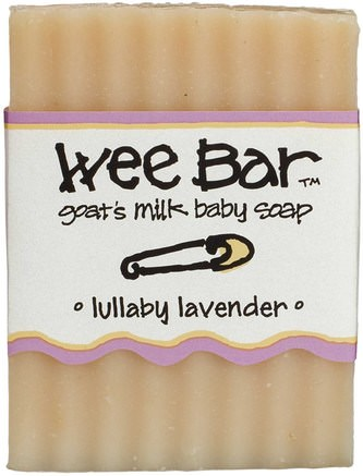 Wee Bar, Goats Milk Baby Soap, Lullaby Lavender, 3 oz Bar by Indigo Wild-Barns Hälsa, Barnbad, Tvål