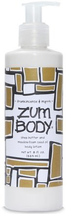 Zum Body, Shea Butter & Meadowfoam Seed Oil Body Lotion, Frankincense & Myrrh, 8 fl oz (225 ml) by Indigo Wild-Bad, Skönhet, Body Lotion