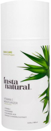 Vitamin C Moisturizer Cream with Hyaluronic Acid, Anti-Aging, 3.4 fl oz (100 ml) by InstaNatural-Skönhet, Ansiktsvård, Vitamin C, Krämer Lotioner, Serum