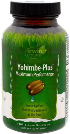 Yohimbe-Plus, Maximum Performance, 100 Liquid Soft-Gels by Irwin Naturals-Hälsa, Män, Ashwagandha Män