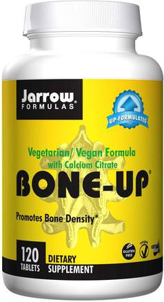 Bone-Up, Vegetarian/Vegan Formula, With Calcium Citrate, 120 Tablets by Jarrow Formulas-Vitaminer, Vitamin D3, Mineraler, Kalcium