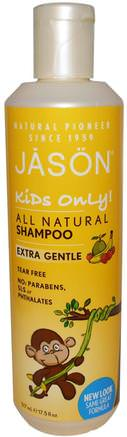 Kids Only!, Extra Gentle, All Natural, Shampoo, 17.5 fl oz (517 ml) by Jason Natural-Bad, Skönhet, Schampo, Barnbad