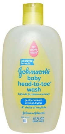 Baby Head-To-Toe Wash, 15 fl oz (444 ml) by Johnsons Baby-Bad, Skönhet, Duschgel, Barn Kroppsvask, Barn Duschgel, Barnhälsa, Barnbad