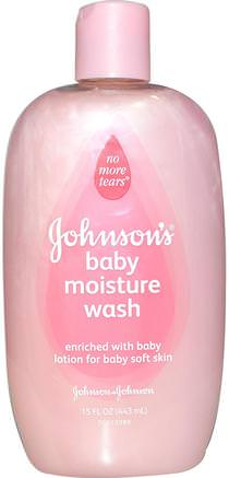 Baby Moisture Wash, 15 fl oz (443 ml) by Johnsons Baby-Bad, Skönhet, Duschgel, Barn Kroppsvask, Barn Duschgel, Barnhälsa, Barnbad