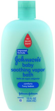 Soothing Vapor Baby Bath, 15 fl oz (444 ml) by Johnsons Baby-Bad, Skönhet, Duschgel, Barn Kroppsvask, Barn Duschgel, Barnhälsa, Barnbad