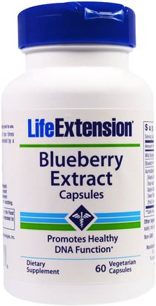 Blueberry Extract Capsules, 60 Veggie Caps by Life Extension-Kosttillskott, Antioxidanter, Blåbär