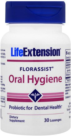 Florassist, Oral Hygiene, 30 Lozenges by Life Extension-Bad, Skönhet, Oral Tandvård, Munhygienprodukter