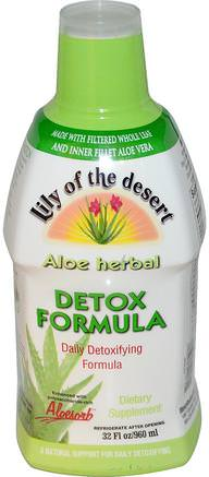 Aloe Herbal, Detox Formula, 32 fl oz (960 ml) by Lily of the Desert-Kosttillskott, Aloe Vera, Aloe Vera Flytande