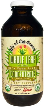 Aloe Vera Juice, Whole Leaf Concentrate, 16 fl oz (473 ml) by Lily of the Desert-Kosttillskott, Aloe Vera, Aloe Vera Flytande