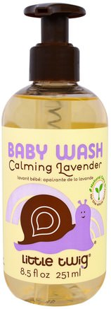 Baby Wash, Calming Lavender, 8.5 fl oz (251 ml) by Little Twig-Barns Hälsa, Barnbad, Duschgel, Barn Kroppsvask, Barn Duschgel