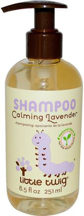 Shampoo, Calming Lavender, 8.5 fl oz (251 ml) by Little Twig-Barns Hälsa, Barnbad, Schampo, Barnschampo