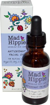 Antioxidant Facial Oil, 1.02 fl oz (30 ml) by Mad Hippie Skin Care Products-Bad, Skönhet, Argan Ansiktsvård, Vitamin C