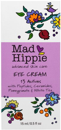 Eye Cream, 13 Actives, 0.5 fl oz (15 ml) by Mad Hippie Skin Care Products-Skönhet, Ögon Krämer, Argan Ansikts Krämer