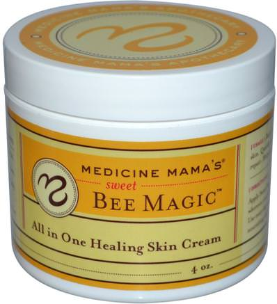 Sweet Bee Magic, All In One Healing Skin Cream, 4 oz by Medicine Mamas-Kosttillskott, Biprodukter, Hud