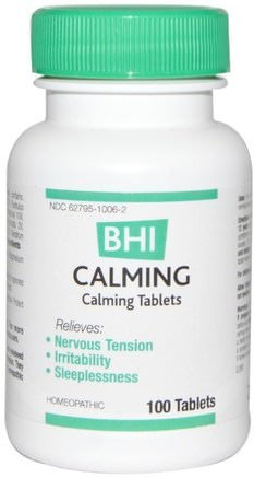 BHI, Calming, 100 Tablets by MediNatura-Hälsa, Ångest, Medinatura Bhi