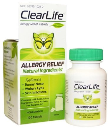 ClearLife, Allergy Relief Tablets, 100 Tablets by MediNatura-Kosttillskott, Homeopati, Allergier, Allergi