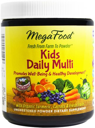 Kids Daily Multi, 1.8 oz (49.8 g) by MegaFood-Vitaminer, Multivitaminer, Barn Multivitaminer