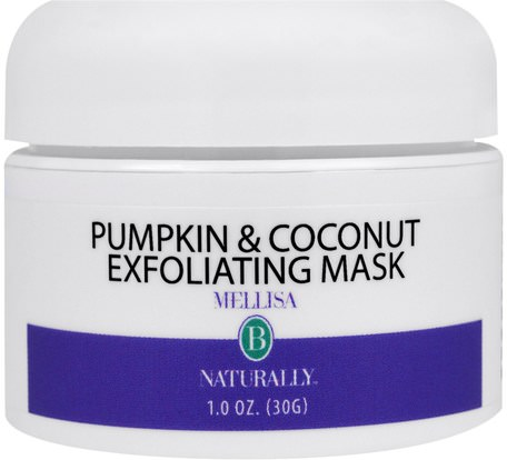 Pumpkin & Coconut Exfoliating Mask, 1 oz (30 ml) by Mellisa B. Naturally-Skönhet, Ansiktsvård, Ansiktsexfoliatorer