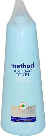 Antibac Toilet, Spearmint, 24 fl oz (709 ml) by Method-Hem, Hushållsrengöringsmedel, Badrumsrenare