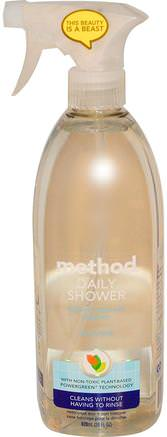 Daily Shower, Natural Shower Cleaner, Ylang Ylang, 28 fl oz (828 ml) by Method-Hem, Hushållsrengöringsmedel, Badrumsrenare