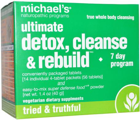 Ultimate Detox, Cleanse & Rebuild, 7 Day Program by Michaels Naturopathic-Hälsa, Detox