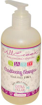 Baby Conditioning Shampoo, Extra Clean, 8.5 fl oz (255 ml) by Mill Creek-Bad, Skönhet, Schampo, Barnbad