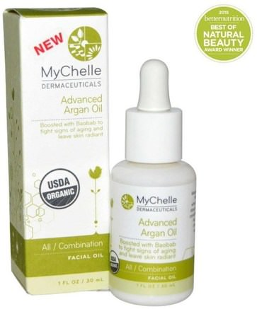 Advanced Argan Oil, All / Combination Facial Oil, 1 fl oz (30 ml) by MyChelle Dermaceuticals-Bad, Skönhet, Argan Ansiktsvård