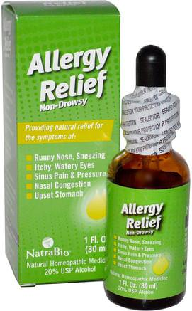 Allergy Relief, Non-Drowsy, 1 fl oz (30 ml) by NatraBio-Hälsa, Allergier, Allergi