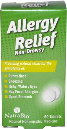 Allergy Relief, Non-Drowsy, 60 Tablets by NatraBio-Hälsa, Allergier, Allergi