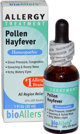 bioAllers, Allergy Treatment, Pollen Hayfever, 1 fl oz (30 ml) by NatraBio-Kosttillskott, Homeopati, Allergier, Allergi