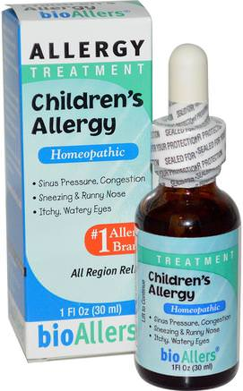 BioAllers, Childrens Allergy, Allergy Treatment, 1 fl oz (30 ml) by NatraBio-Hälsa, Allergier, Allergi