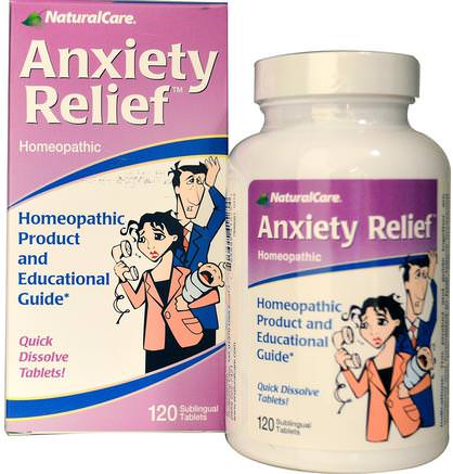 Anxiety Relief, 120 Sublingual Tablets by Natural Care-Hälsa, Ångest