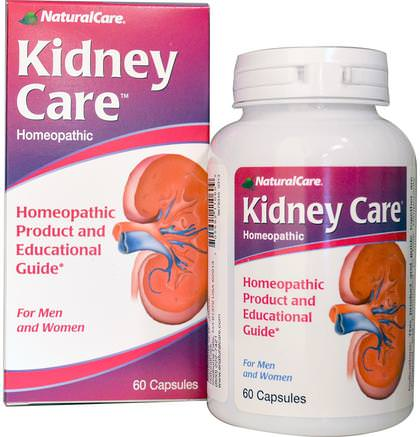 Kidney Care, 60 Capsules by Natural Care-Kosttillskott, Homeopati, Hälsa, Njure